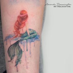 Watercolor mermaid tattoo by Mentjuh on DeviantArt