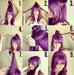 Plaited hair band
