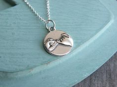 Hey, I found this really awesome Etsy listing at https://www.etsy.com/listing/151476067/new-pinky-promise-necklace-sterling