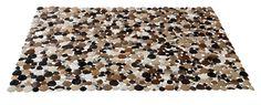 KARE Design Teppich Circle Country 140x200 in verschiedenen Kuhfellmustern und verschiedenen Größen erhältlich, aus Echtleder, mit Kuhfellkreisen und einer Rückseite aus Wildleder. #KARE #KAREDesign