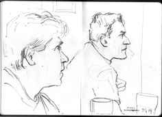 #linefebruary #thedailysketch 15 min pencil sketch, friends watching the #WinterOlympics 15/2/14 http://anthonygreentree-artist.blogspot.co.uk/