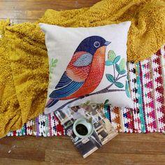 Brand New Asian Bird Premium Cotton Linen Pillow Case   eBay