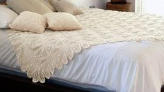 Art: CROCHETED BEDSPREAD AND PILLOWCASES