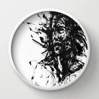 Wall Clock featuring The Burden by Agnes-Cecile for Arte Cluster I 20% Off I Thanks for supporting Arte Cluster