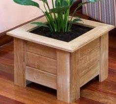 macetas de madera - Buscar con Google                                                                                                                                                                                 Más Backyard Projects, Diy Pallet Projects, Wood Projects, Woodworking Projects, Woodworking Wood, Wood Pallet Planters, Wood Pallets, Wood Crafts, Diy And Crafts