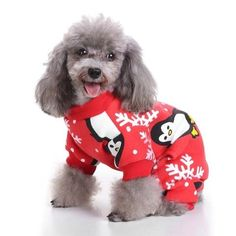 S-Lifeeling Christmas Snowflake Penguin Dog Costumes Holiday Halloween Christmas Pet Clothes Soft Comfortable Dog Clothes >>> See this great product. (This is an affiliate link) Dog Christmas Clothes, Christmas Kitten, Christmas Puppy, Christmas Animals, Christmas Pajamas, Chihuahua Clothes, Puppy Clothes, Cartoon Costumes, Pet Costumes