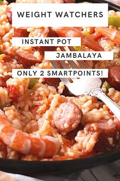 Have you jumped on the Insant Pot bandwagon yet? If so, here is a wonderful Weight Watchers Freestyle Recipe for Jambalaya to make in the Instant Pot. Jambalaya Recipe Instant Pot, Instant Pot Dinner Recipes, Weight Watcher Jambalaya Recipe, Poulet Weight Watchers, Plats Weight Watchers, Weight Watchers Chicken, Weight Watcher Dinners, Weight Loss Meals, Healthy Recipes