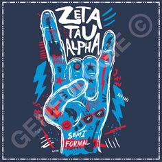 Geneologie | Greek Tee Shirts | Greek Tanks | Custom Apparel Design | Custom Greek Apparel | Sorority Tee Shirts | Sorority Tanks | Sorority Shirt Designs  | Sorority Shirt Ideas | Greek Life | Hand Drawn | Sorority | Sisterhood | ZTA | Zeta Tau Alpha | Rock On | Music | Semi Formal