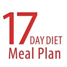 17 day diet Meal Plan - #HealthyHappySmart