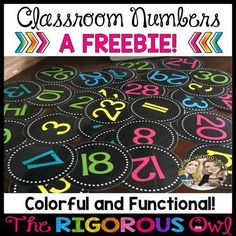 Classroom Numbers Back to School Freebie Calling all teachers! Anyone interested in some Back to School Freebies? We have 5 Back to School Freebies just for YOU! Classroom Freebies, 2nd Grade Classroom, Classroom Setting, Classroom Displays, Kindergarten Classroom, Future Classroom, Classroom Design, Classroom Ideas, Teacher Freebies