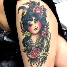 thievinggenius:  Tattoo done byAndrea Giulimondi.