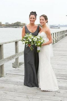 Alfred Sung bridesmaid dress in gray bouquet, bridesmaid dresses, sung bridesmaid