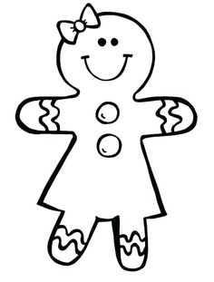 Gingerbread Man Coloring Pages Ideas. Do you know Gingerbread man coloring pages? It is one of the most interesting coloring pages that you can give to your chi Boy Coloring, Cute Coloring Pages, Coloring Pages For Girls, Printable Coloring Pages, Free Coloring, Coloring Books, Colouring, Christmas Colors, Christmas Art
