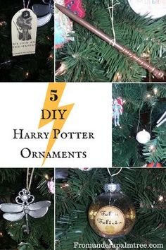 Room decor diy harry potter floating candles 41 ideas for 2019 Deco Noel Harry Potter, Harry Potter Wands Diy, Harry Potter Fiesta, Harry Potter Thema, Harry Potter Decor, Harry Potter Christmas Decorations, Harry Potter Christmas Tree, Hogwarts Christmas, Diy Christmas Ornaments