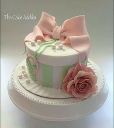 Pretty pink cake pinteres gteau cake negle Image collections