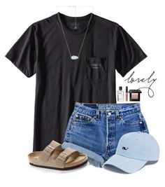 ~l o v e l y~ is part of Outfits - A fashion look from March 2017 by featuring Birkenstock, Kendra Scott, Patagonia, Vineyard Vines and Bobbi Brown Cosmetics Cute Comfy Outfits, Cute Outfits For School, Cute Summer Outfits, Simple Outfits, Outfits For Teens, Trendy Outfits, Simple College Outfits, Camping Outfits For Women Summer, Lazy Outfits