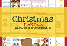 These free Christmas worksheets for preschoolers feature 28 pages of activities that help children learn the story of Jesus' birth. Christmas Stories For Kids, Preschool Christmas, A Christmas Story, Christmas Fun, Celebrating Christmas, Jesus Stories, Bible Stories, Preschool Worksheets, Classroom Activities