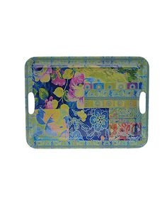 Look at this 19.5'' Duchess Rectangular Melamine Handled Tray on #zulily today!