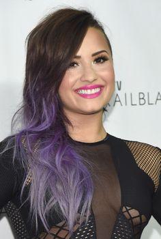 Demi Lovato lilac ombre