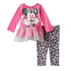 Disney's Minnie Mouse Tunic & Leggings Set - Baby Girl