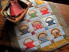civil war basket quilts