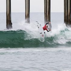 "@elijah_fox deals with the ""pier pressure"" on opening day of the #RipCurl #GromSearch presented by @banzaibowls. Join us tomorrow to see who takes the crown.  #SurfingIsEverything Photo: @stevemophoto http://ift.tt/1MenVSr"