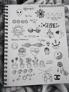 Imagem de drawing, grunge, and draw doodles Small Drawings, Doodle Drawings, Easy Drawings, Tumblr Sketches, Notebook Doodles, Notebook Drawing, Doodle Art Journals, Art Inspo, Lettering