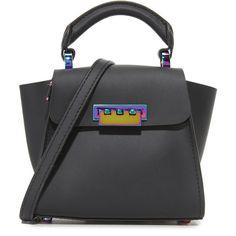 Zac Zac Posen Eartha Mini Top Handle Bag ($295) ❤ liked on Polyvore featuring bags, handbags, zac zac posen, zac zac posen bag, handle bag, miniature purse and mini handbags