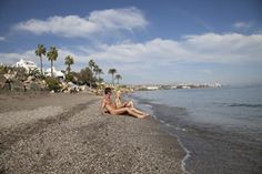 Naturist/Nudist beach of Costa Natura, Estepona.  Playa nudista de Costa Natura, Estepona, Costa del Sol  www.costanatura.com