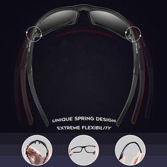 7c394e3cd7 RIVBOS Polarized Sports Sunglasses Driving Sun Glasses for Men Women TR 90  Unbreakable Frame for Cycling Baseball Running White