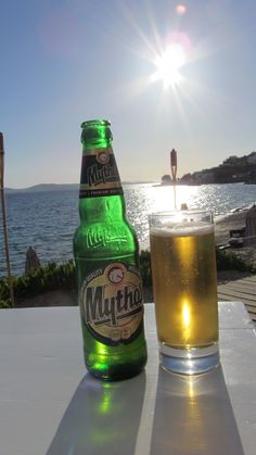 Mythos, the beer of Greece.