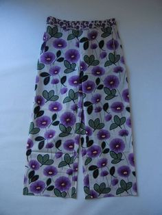"Marni S/S 2001 purple and green ""Margherita"" floral trousers"