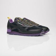 Brandshop x Reebok Classic Leather  Black Purple Fashion Shoes b3cd57ec1