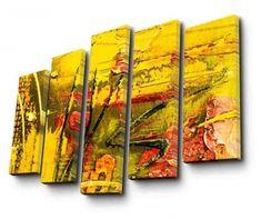 Main Thumb Yellow Painting, Coasters, Halloween, Coaster, Spooky Halloween