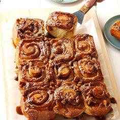 35 Copycat Panera Bread Recipes 35 Panera Bread Copycat Recipes – Step up to the counter—the kitchen counter, that is—and make copycat recipes for pastries, sandwiches, soups and salads inspired by fast-casual favorite Panera Bread. Gooey Cinnamon Rolls Recipe, Pecan Cinnamon Rolls, Pecan Rolls, Caramel Rolls, Caramel Pecan, Yeast Bread Recipes, Pastry Recipes, Deserts, Garam Masala