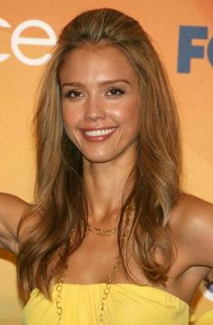 jessica alba hair half up - Google Search