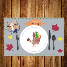 Thanksgiving Placemat - DIGITAL - Instant and Custom - Holiday Craft for Kids - by SporterDesigns on Etsy Thanksgiving Placemats, Thanksgiving Crafts For Toddlers, Thanksgiving Crafts For Kids, Fall Toddler Crafts, November Thanksgiving, Toddler Art, Halloween Crafts For Preschoolers, Kids Holiday Crafts, Preschool Fall Crafts