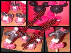 tematica minnie velas ,personalizadas en porcelana fria ,centrales de mesa,souvenirs