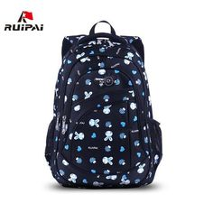 RUIPAI 2017 School Bags for Girls Cute Printing Women's Backpacks Nylon Children Schoolbags for Girl Boys Preppy Style Back pack - Touchy Style Small Backpacks For Girls, Cute Backpacks For College, Fashionable Backpacks For School, College Bags For Girls, Trendy Backpacks, Boys Backpacks, Cute School Bags, School Bags For Kids, Popular Backpack Brands
