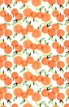 Adorable little print. Would make for a nice bag liner or cosmetic bag print. Happy little oranges, indeed.