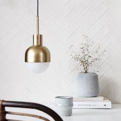 House Doctor Glow Brass Pendant Lamp