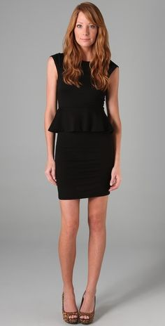 My new favorite little black dress with an all out flattering peplum so you can indulge in apps at dinner. I will have you soon :)