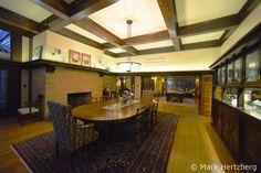 Dining room ceiling - Jones House / 3335 South Shore, Lake Delavan, WI / 1902 / Prairie / Frank Lloyd Wright