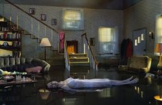 American photographer Gregory Crewdson creates haunting moments frozen in time. Set in nondescript suburban America, his photos explore the disturbing dram