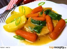 Baby karotka na másle recept Caprese Salad, Thai Red Curry, Crockpot, Food And Drink, Meat, Chicken, Ethnic Recipes, Foods, Food Food