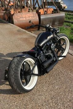 old meets new bobber. i love the powder-coated wheel to play on white wall