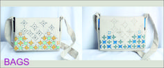 Hand embroidered bags . . .