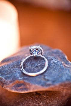 """Sapphire """"Petals"""" on my ring :0)"""