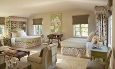 Guest bedroom designed by Suzanne Rheinstein