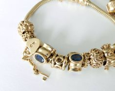pandora 14k gold bracelet with murano - Google Search